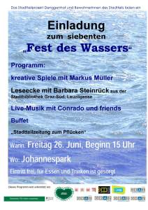 Einladung Fest des Wassers 26